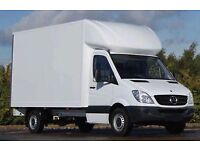 24/7 man and van hire with driver delivery courier moving services, shorts notice, urgent clearance.