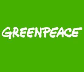 Door to Door Fundraiser for Greenpeace - Immediate Start - £9 - £11 per hour plus competitive bonus