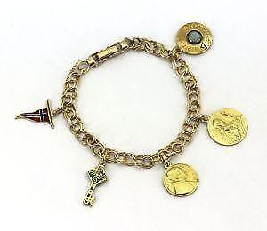 Vintage 14k Gold Charm Bracelet
