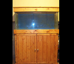 65 Gallon Aquarium with wooden stand and canopy - O.B.O