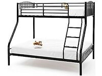 CHEAPEST PRICE GUARANTEED- BRAND New Alexa Trio Metal Bunk Bed and Mattress - SAME/NEXT DAY DELIVERY