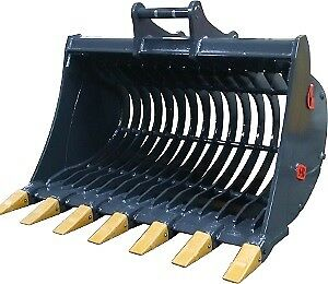 Excavator Attachments - Root Rakes, Buckets, Grapples, Thumbs
