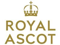 Two Royal Ascot tickets -Saturday includes train from Waterloo