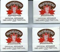 1983 GREY CUP Set of 4 FANFARE '83 MATCHES - Argos WIN !!!