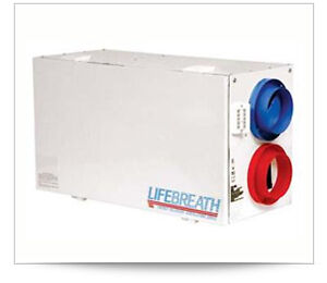 LIFEBREATH HEAT RECOVERY VENTALATION (HRV) SYSTEM RNC 10 (123 -1