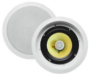 Haut-parleurs plafond encastr. Kevlar 120W 6.5po 2 voies 1 paire