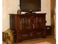 TV Cabinet / sideboard /media unit - solid wood from Jeffrey's Interiors