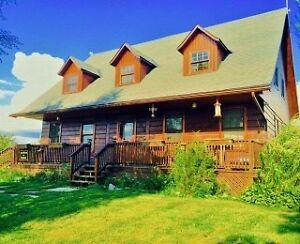 Log home only 18 mins North of Kingston, tons of potential...