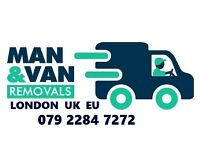 House Removals London Man with Van Office Moving Packing Courier Delivery Large Van Hire London