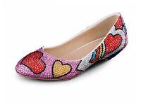 Love heart ballet pump shoes uk sizes 4-8