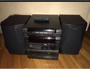 PRICE LOWERED! SONY Mini STEREO -771- 3x Disk 2x Tape Player!