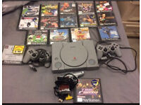 PlayStation 1, 2 pads with 16 games