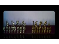 GREEK MYTHOLOGY - METAL CHESS PIECES - FOR SALE.