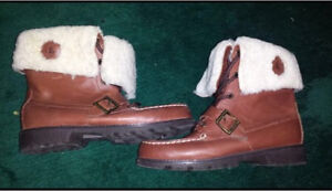 Size 6.5 Polo by Ralph Lauren Ultra Hi Shearling Leather Boots London Ontario image 3