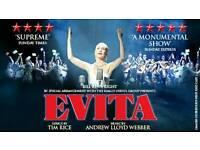 2x Evita tickets