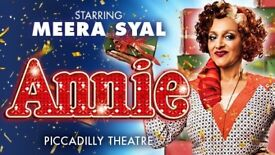 Available Half Price! 4 ROWS FROM FRONT! *ANNIE* London 23rd December 2017 7.30pm Physical Tickets