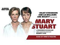 Mary Stuart 2 tickets stalls
