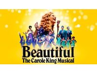 Two tickets for 'Beautiful: The Carole King Musical' - Wednesday 29th November - 7:30pm