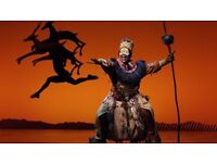 disney the lion king (sat 27th aug 7.30pm two tickets)
