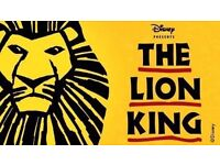 The Lion King Theatre Tickets 1 wheelchair space and a career