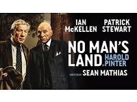 2x tickets to 'No Man's Land' Row D, Stalls   Saturday 15th October