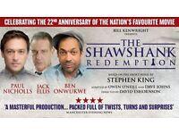 2x tickets for shawshank redemption at Sheffield Lyceum Saturday 3rd December