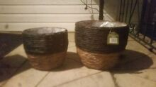Two matching cane baskets Revesby Bankstown Area Preview