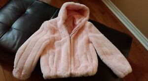 Pink furry coat Windsor Region Ontario image 1