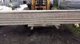 SCAFFOLD BOARDS13FT 3900mm X 220mmX36-38mm USED PLANKS BANDED FREE DELIVERY