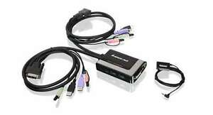 IOGear 2 Port USB DVI KVM Switch with Audio and Microphone