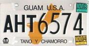 Guam License Plate