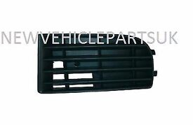 VW GOLF MK5 2004-2008 FRONT BUMPER FOG GRILLE NO FOG HOLE 4 BARS PASSENGER SIDE NEW FREE DELIVERY