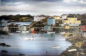 "For Sale Ben Gillard ""Evening in Burgeo"" Artist Proof #7/37 St. John's Newfoundland image 1"