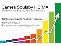 restaurant advice & support. With over 20 years catering management experience can James help you?