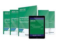 2020 CFA Level 1, 2, 3 Curriculum Schweser, Qbank, Notes, Practice Exams