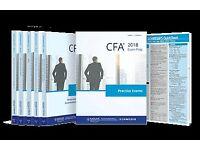 2018 CFA Level 1-2-3 Curriculum,Schweser QBank, Schweser Exams Secret Sauce, Schweser Study Notes