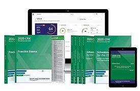 2020 CFA Level 1, 2, 3 Curriculum Schweser, Qbank, Notes, Paper