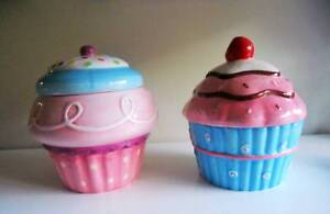 2 Large Talking Cupcake Cookie Jars Southport Gold Coast City Preview
