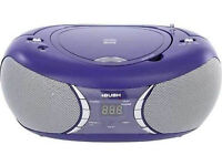 ***NEW***Bush CD-78-BTFM Bluetooth Boombox 2W RMS CD player FM With AUX Connection