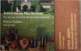 Handy man, maintenance and garden.