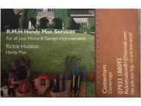 Handy man, maintenance and garden.