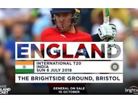 8 Tickets for India vs Englan 3rd & Final T20 8 July 2018 Sunday 2pm game