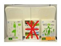 Wii fit board and 2 games