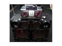 Lg Xboom CM9730 25000 WATT DJ,Bluetooth.Red led Speakers.