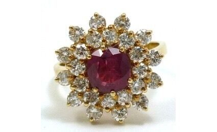 18ct Gold Ruby Diamond Ring with valuation worth $30,000 Parkwood Gold Coast City Preview