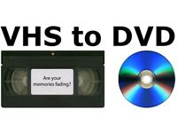 VHS To DVD / Digital download . Convert your dust collecting home videos to digital format