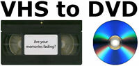 Regular Family VHS Tapes to DVD Transfers