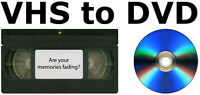 Convert VHS to DVD or digital - $5