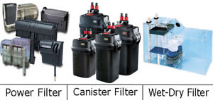 Looking for lights and filtration equipment for Aquariums