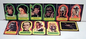 1977 Star Wars Series 1 TOPPS Sticker Set of 11 #1-11